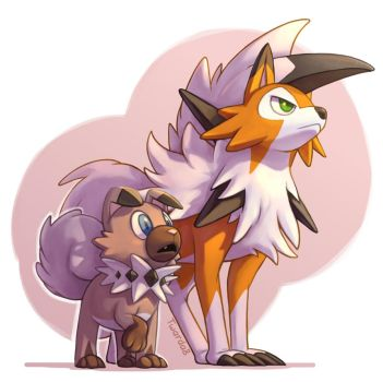 COM: Rockruff and Lycanroc by Twarda8