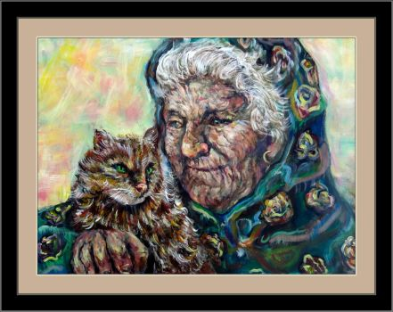 Old Lady and Cat by Antonia Chan by samxinzhang