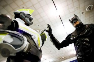 Wild Tiger and The Dark Knight - Fanime 2012 by CrimsonAether