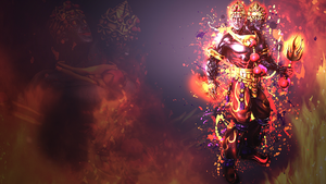 Agni, God of Fire - Wallpaper HD - No text Version by Getsukeii