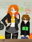 Soph And Simon By Grayfawx2 Colors By Tsukiyochi- by xSTARBUSTERx