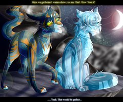 Feathertail and Tawnypelt (Warrior Cats) by WarriorCat3042