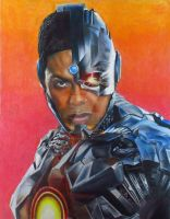 Ray Fisher as Cyborg  by JunkDrawings