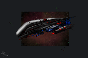 Lemurian Battlecruiser by PeterPrime
