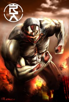 The Armored Titan by aerlixir