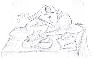 Mokona Sketch for Wallie by MoPotter
