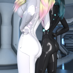 Catsuit Bums (Test) by Shimeri