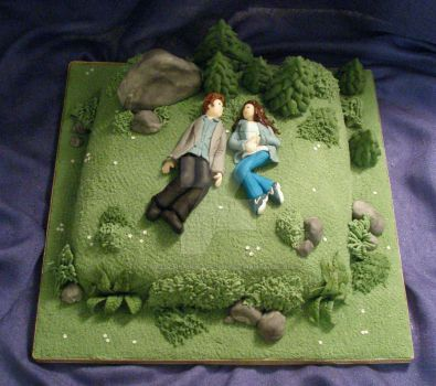 Edward and Bellas Meadow Cake by Dragonsanddaffodils