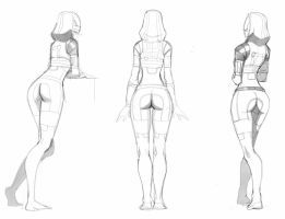 Sketch Tali back by spaceMAXmarine
