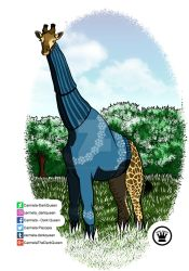 Giraffe in sweater by Carmela-DarkQueen