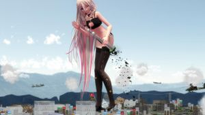 The attack of the giant IA by MrToyokuni