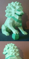 Lion Guardian (Foo Dog) Papercraft by Gedelgo