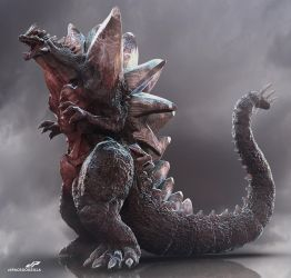 zSUPER SPACE GODZILLA alternate view by dopepope