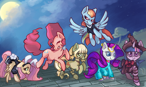 Trick or Treating on Nightmare Night by dashleigh