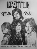 Led Zeppelin drawing by Laura10June