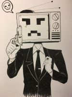 Inktober: Serious Bill by AceOfBros