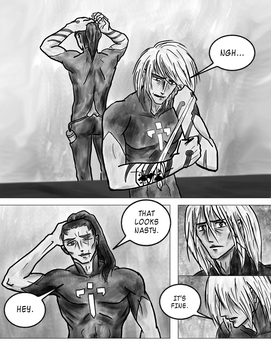 Noein fan comic: A moment from Dreamtime, page 1 by erin-c-1978