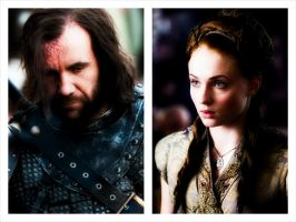 Sansa Stark and Sandor Clegane 2 by lilfeather1994