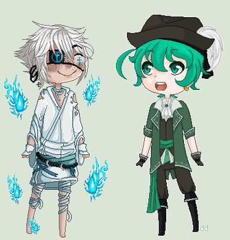 [Collab] A Ghost and a Pirate by 1LittlePenguin