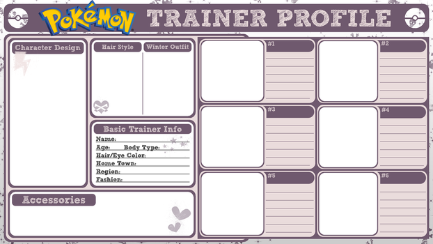 Pokemon Trainer Profile by PoisonousSugar