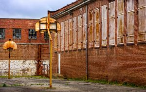 Abandoned Lorton Prison - Basketball Court by cjheery