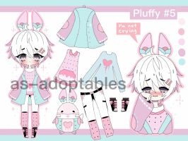 Pluffy Bunny adoptable CLOSED #5 by AS-Adoptables