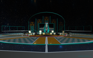 MMD Miku performing Northern Cross by Trackdancer