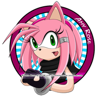 Amy Rose Button by TheSnowDrifter