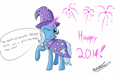 Trixie desires you a happy new year! by WhoovesPON3