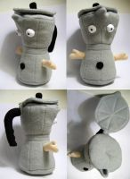 Coffee Pot Plush by andricongirl