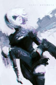 NieR: Automata - 2B and 9S by Alex-Chow