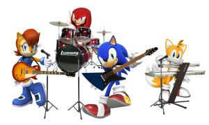 Sonic Music Band by Big-Al-Son86