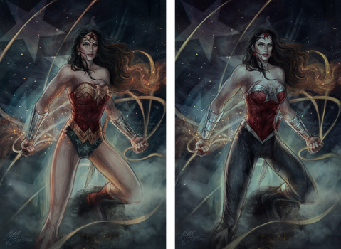 Wonder Woman Old vs New by jasric