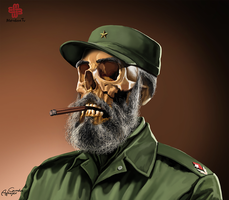 Fidel Castro - As Depicted By Gunduz Aghayev by CaciqueCaribe