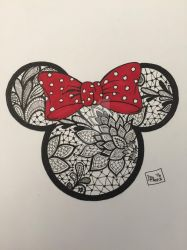 Minnie Mouse Tattoo design by dalescott78