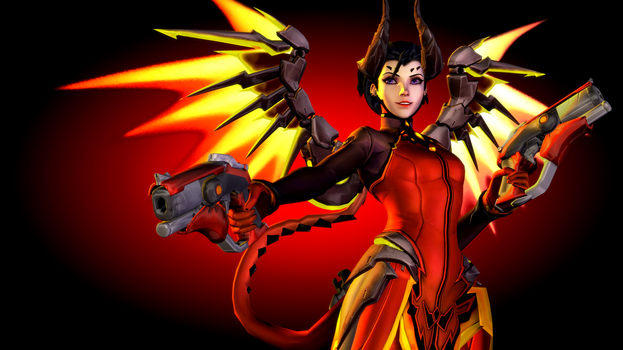 Overwatch (17 - Devil Mercy) by AdeptusInfinitus