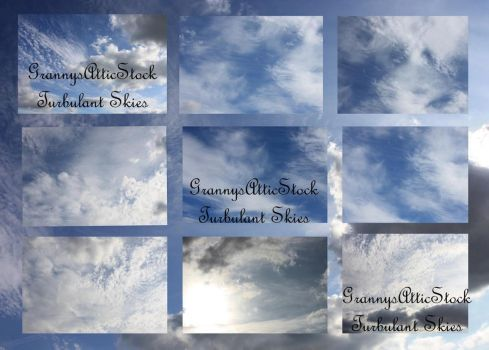 Turbulant Skies Pack by GRANNYSATTICSTOCK