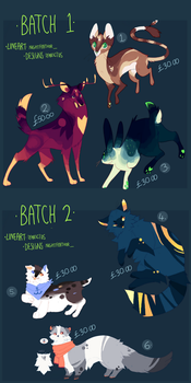 Collab Adoptables|2/6 OPEN by Nightfeather123