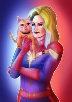 Captain Marvel by Kyber02