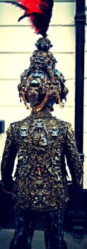 wearable sculpture artist turban and jacket by overlord-costume-art