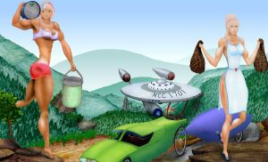 Enterprise strand on Shasheer by MuscleWomen-Planet