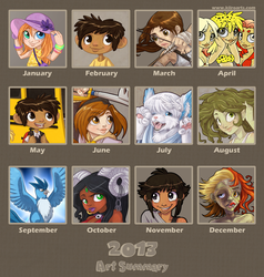 2013 Art Summary by Kiiro-chan
