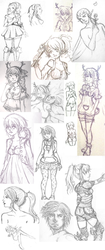 Sketchdump by Miss-Strawberrii