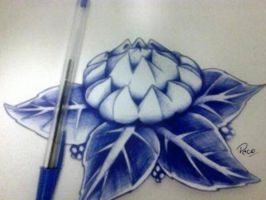 Ballpoint pen flower by MarcilioRodrigues