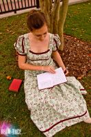 Writing in the Garden by singerofpearls