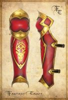Game of Thrones royal leather greaves Baratheon by Fantasy-Craft