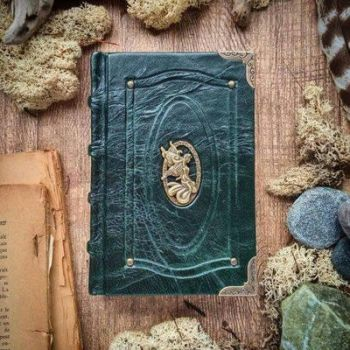 Small book of fairies - forest green by MilleCuirs