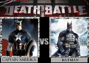 Death Battle #7 Captain Amerika VS Batman by adrian98-12