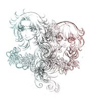 fiore and saja... concept draft by sureya