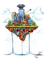 Flying Island by neocatastrophic